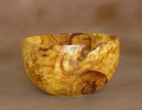 "Aspen Bowl - This 7"" aspen bowl is more form than function.  After you see the striking grain that seems to swirl in every direction, you will set it in a place for all to admire."